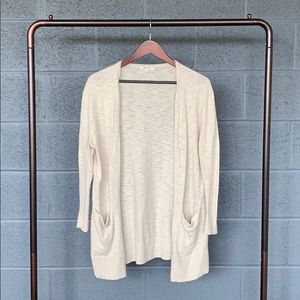 Madewell Cotton Oatmeal Ryder Cardigan